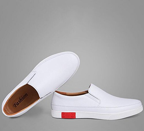 B Outdoor Small Casual Mocassini Leather Shoes HUAN Exercise Shoe 2018 New Scarpe Sneakers Deck Uomo Shoes White naYEwzE7q