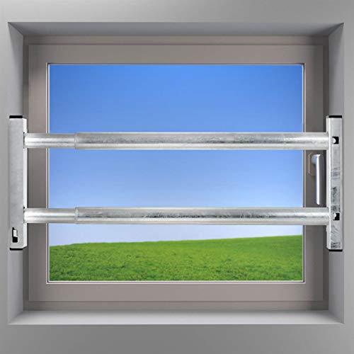 VOSS Fenstersicherung Sicherungsstange Türsicherung Einbruchschutz 2Fach 640-1000mm