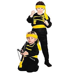 WIDMANN 36139 - Disfraz de niño para niño, color negro y amarillo