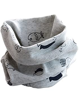 TININNA Autunno e Inverno Carino Stampe di piccolo pesce Sciarpe per bambini Sciarpa scaldacollo Sciarpe di cotone...
