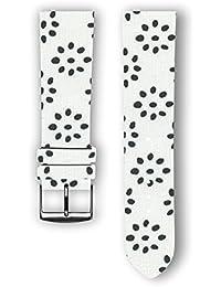 100% diseño de algodón con piel trasera: cachorros de repuesto correa de reloj–correa de reloj para Samsung Gear S3–Apple reloj inteligente–relojes–conectado relojes–relojes convencionales. Fabricado en Francia