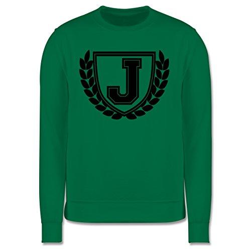 Anfangsbuchstaben - J Collegestyle - Herren Premium Pullover Grün