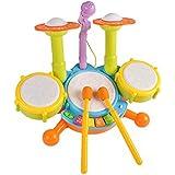 dc85c00a39a2d DUWEN Batería Infantil Jazz Tambor Musical Juguetes educativos Percusión  Educación temprana Batería electrónica