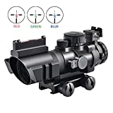 Best Airsoft Scopes - KINGSCOPE Tactical Rifle Scope 4X32mm Red/Green/Blue Illuminated Rapid Review