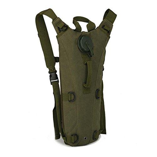 Hi Suyi Trinkrucksack mit 3-Liter-Blase, tarnfarben, für Outdoor-Sport, Klettern, Laufen, Wandern, Radfahren, Camping, Jagd, armee-grün -