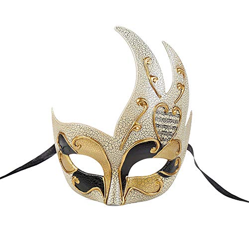 BLEVET Vénitien Masquerades Masques Costumes Spectacle Carnaval Mascarade décoration de Halloween Mardi Gras Parti Masque MZ061 (Black)