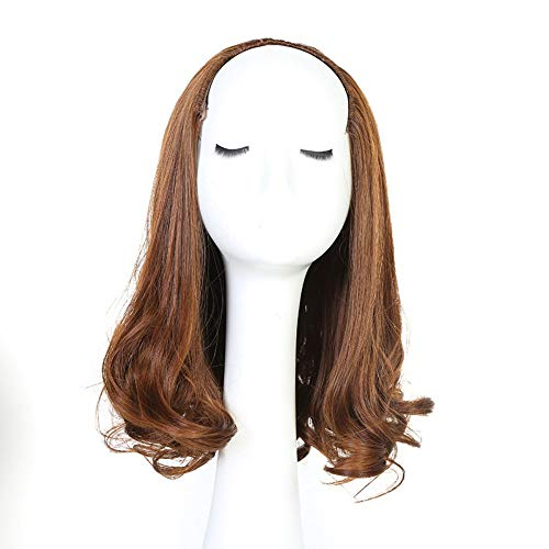 Perruque longue perruque de cheveux bouclés braune clair, Mode féminine Glamour Haute Résistant à la Chaleur Naturel Cosplay Kostüm Halloween Party Fil de haute température