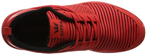Supra Scissor, Sneakers Basses Homme Rouge (Red-Red)