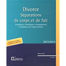Divorce : Séparations de corps et de fait