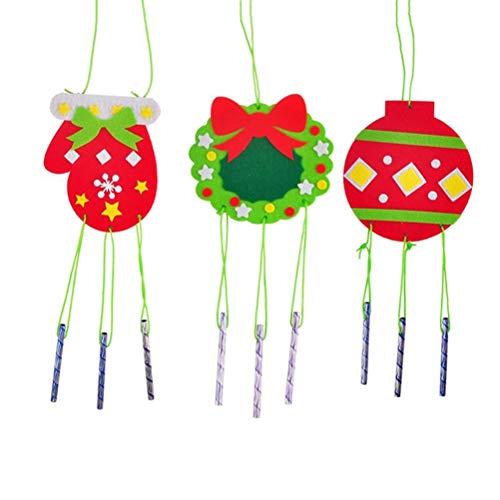 Weihnachten Windspiele Wind Glocke Hängende Verzierung Weihnachtsdekoration DIY Windspiel Material Paket ()