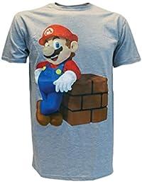 Super Mario Bros. T-Shirt Mario Block grau Größe L