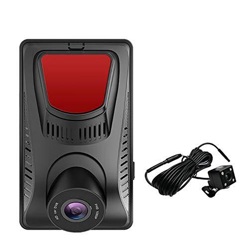 YTBLF Versteckter HD-Recorder mit 4-Zoll-Touch-Front- und -Hintern-Doppelobjektiv 1080P 170 Grad Weitwinkel, Breitdynamik, G-Sensor, dynamische Erkennung, Zyklusaufzeichnung