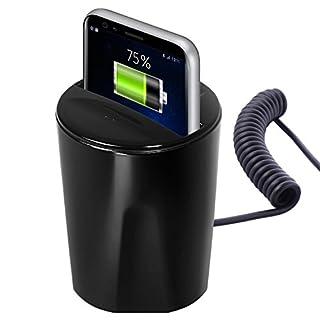 Cartrend 154004 USB Wireless Cup 12 Volt zum Laden für Smartphones 2,1 A