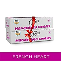 WISH A CUPCAKE Handmade French Heart Cookies 600 gm (Pack of 2)