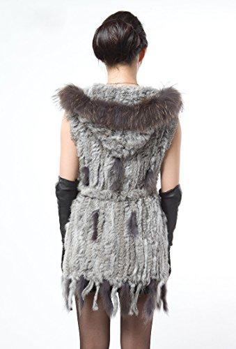 queenshiny Damen 100 Echte Strick Gestrickte Knitted Kaninchen Lang ...