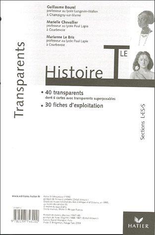 Histoire Tle, Sections L/ES/S : Transparents