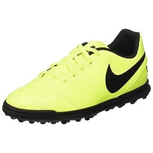 Nike Tiempox Rio Iii Tf, Scarpe da Calcio Unisex – Bambini, Giallo (Volt/Black Volt), 36 EU