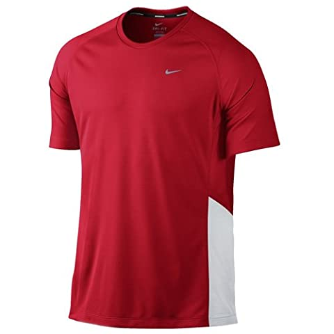 Nike Miler Uv (Team) Top à manches courtes Homme University Red/White/Reflectiv FR : XL (Taille Fabricant : XL)