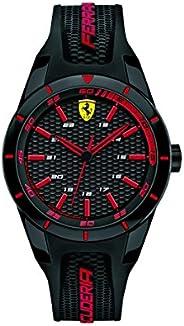 Ferrari Redrev Men's Black Dial Silicone Analog Watch - 840004
