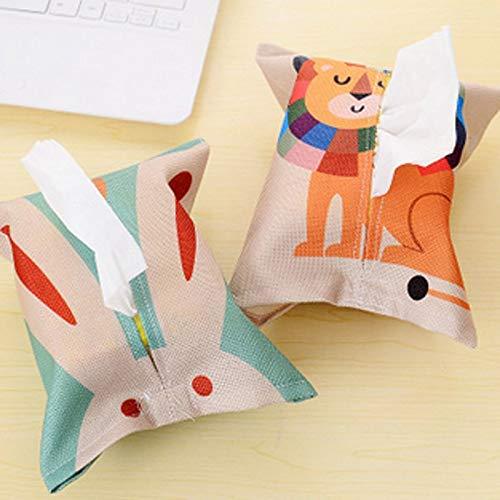 Tyro - Dispensador de servilletas de algodón y Lino, diseño de Animales de Dibujos Animados