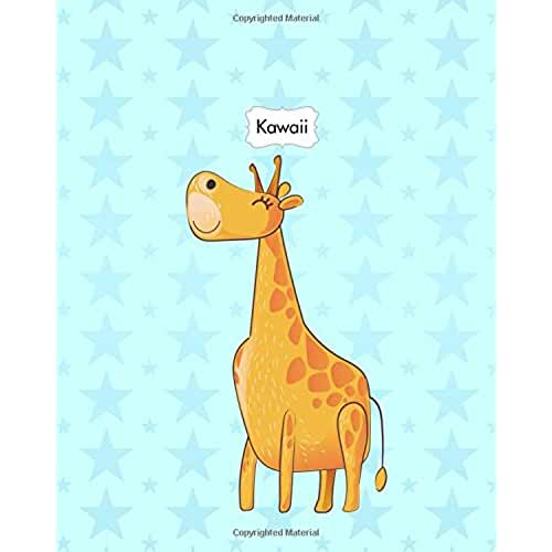 dia del libro kawaii Kawaii: Animals Cute Kawaii Sweet Notebook Stationery 8x10 Lined Journal Lion Elephant Kangaroo Giraffe: Volume 5 (Kawaii Cute Animals Sweet Pastel Color Notebook Journal Stationery Series)