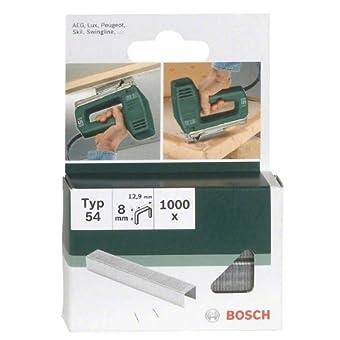 Bosch 2609255840 Set de 1000 agrafes à fil plat Type 54 Largeur 12,9 mm Epaisseur 1,25 mm Longueur 8 mm