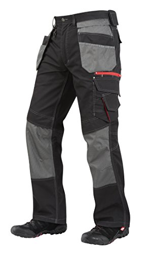 Lee Cooper Workwear Holster Pocket Cargo Pant, 36R, schwarz, LCPNT224 (Bund Innen Am)
