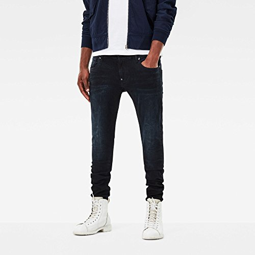 G-STAR RAW Herren Skinny Jeans Revend Super Slim Blau (Dk Aged 89)