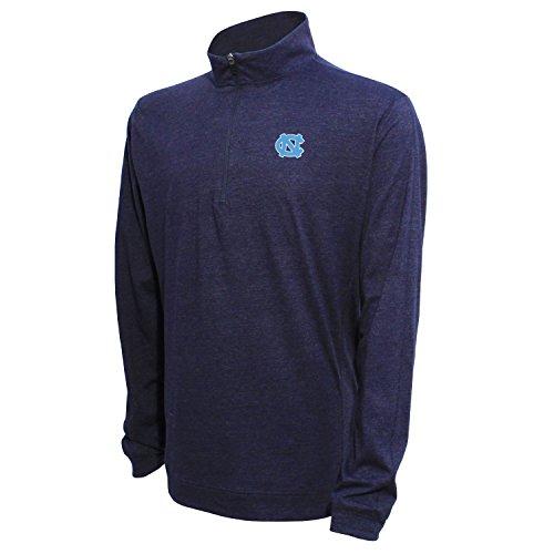 1/4Zip Pullover, herren, 1/4 Zip Pullover, Heather Blue, Medium