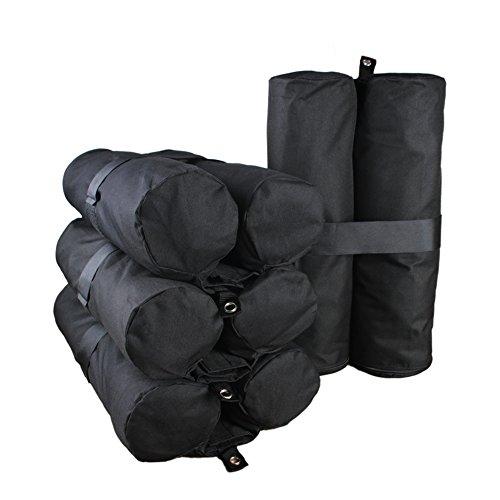 Goutime peso gazebo,4 sacchi di sacchetto di sabbia per giardino gazebo,la capacità massima di un sacchetto di 18 kg ancoraggio per tenda e gazebo,nero