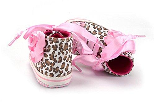 Hunpta Neue jungen Lauflernschuhe Kleinkind jungen Mädchen Leopard Pailletten Spleiß weiche Schuhe Flower Sneakers Schuhe (11, Schwarz) Rosa