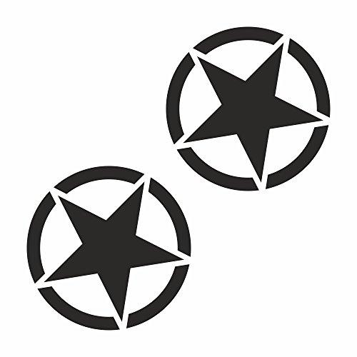 2 x Army Stern Usa Amerika Navy Hotrod Shocker Hand Auto Aufkleber JDM Tuning OEM DUB Decal Stickerbomb Bombing fun w (Schwarz) (Schwarz) (Schwarz) (Schwarz) (Schwarz) (Navy Sterne)