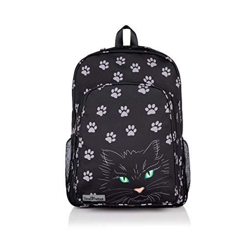 Shagwear Größe Retro-Rucksack in verschiedenen Motiven, zum Schüler/Studenten/Campen: (Katze Augen/Cat's Eyes)