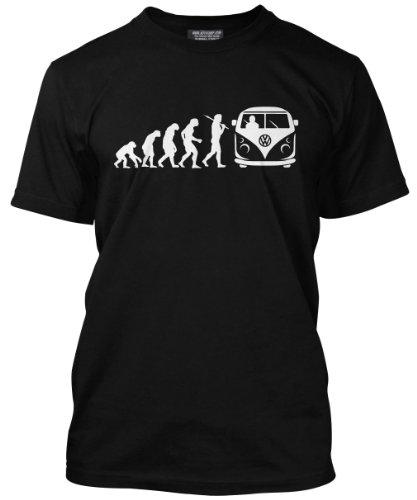 Evolution-of-a-VW-Camper-Pop-Top-Bus-Campervan-Driver-Herren-Schwarz-Enthusiast-T-Shirt-Gro-volkswagen-vw-camper-van-campervan-Geschenks-bedding-accessories-surfing-camping-VW-Campervan-Geschenk