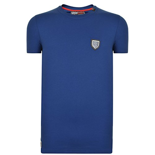 Philipp plein sport football mtk0646 b006 maglietta blu blue b006 uomo