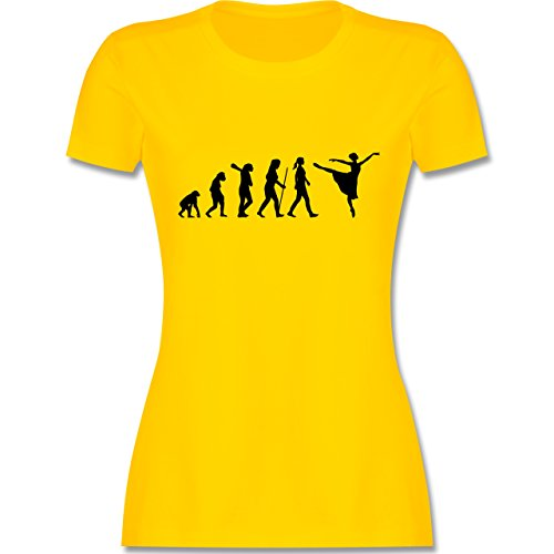 Evolution - Ballett Evolution Arabesque - M - Gelb - L191 - Damen Tshirt und Frauen T-Shirt
