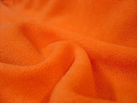 ORANGE Soft Anti Polar Fleece Fabric, Top Quality Soft Fleece Material 150cm width Sold by 1/2 metre unit