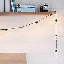Cadena de 20 Bombillas con LED Blanco Cálido a Pilas para Interiores y Exteriores de Lights4fun
