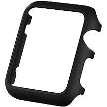 Alienwork Funda para Apple Watch 1/2/3 42mm prueba de choques protectora bumper case Ultra-delgada Plástico negro AW4210-01