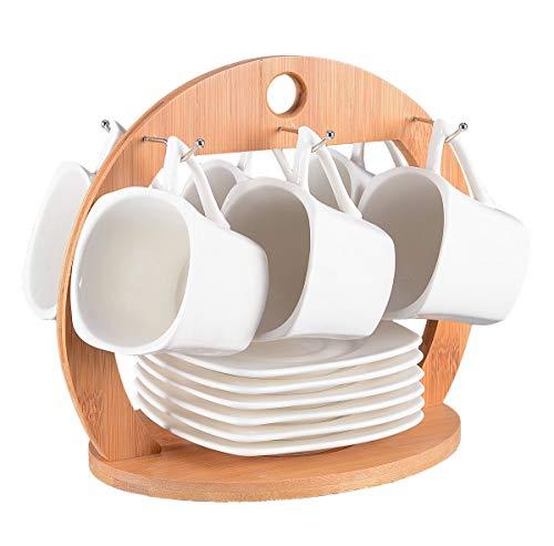 Tassen Set 13-teilig für Tee oder Kaffee. Kompaktes Set bestehend aus 6 Tassen (150ml) mit...