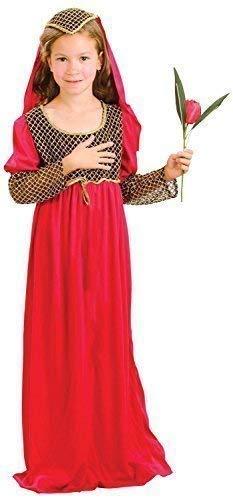 Fancy Me Mädchen-rot Juliet Shakespeare Büchertag Woche Kleid Kostüm Schuhe 4-14 Jahre - Rot, 10-12 Years