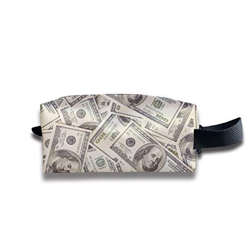 Makeup Cosmetic Bag Artistic Dollars Pattern Art Travel Make-Up Bags Pen Case Portable Storage Multi Pack In Womens Avon