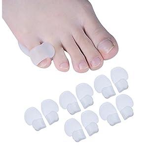 Sumiwish 10x Kleiner Zehen,Kleiner Zehenspreizer, Zehenspreizer Kleiner Zeh für Walking, Laufen, Relief Füße Druck und Schmerzen