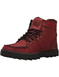 DC Shoes Men'S Woodland Winter Boots Hi Top Shoes Camel/Dark Choco (CC2) Red 12
