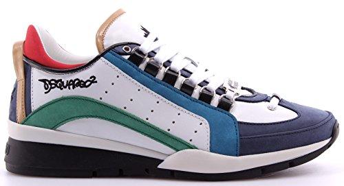 Dsquared2 scarpe sneakers uomo in pelle nuove 551 bianco EU 46 W16SN404 578 M630