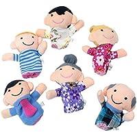 Cestval Happy Family Member Figura de la marioneta Set Toy Juguetes educativos Storytelling Doll para niños 6 Piezas