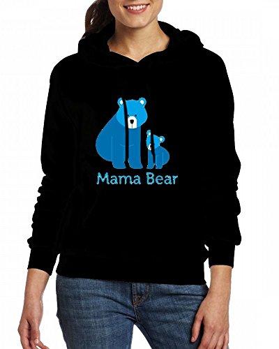 Custom Womens Hooded - Design MaMa Bear Hoodies Black
