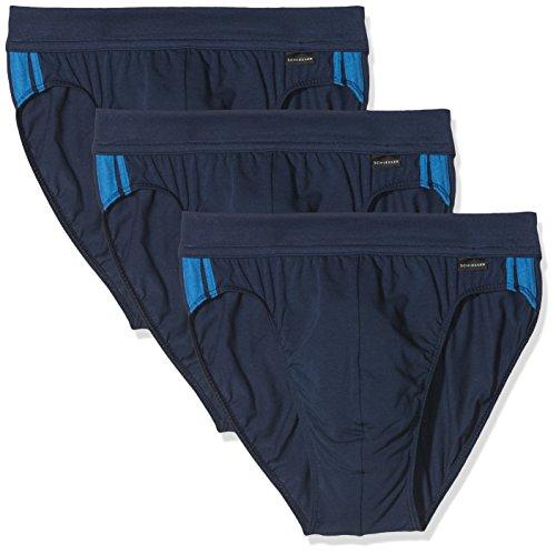Schiesser Herren Cotton Stretch Slip, Blau (Admiral 801), XX-Large (3er Pack