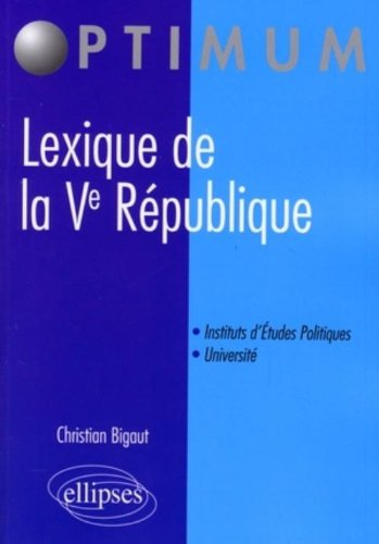 Lexique de la Ve Republique