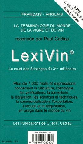 LexiVin - LexiWine (édition bilingue)